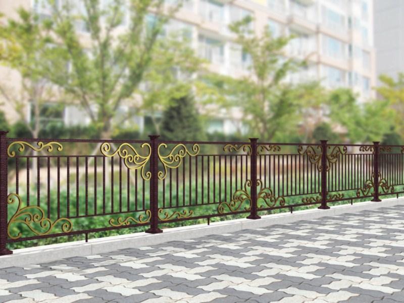 Phối cảnh công trình hàng rào sắt thu hút nhiều người